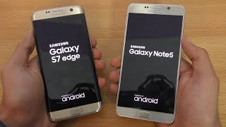 Samsung Galaxy S7 Edge vs Galaxy Note 5 - Speed Test (4K)