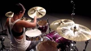 vuclip Lindsey Raye Ward   Linkin Park feat  Daron Malakian   Rebellion Drum Cover