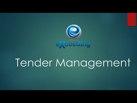 Why you need Tender Management