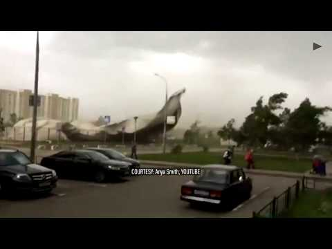 Severe storm rips through Moscow leaving several dead