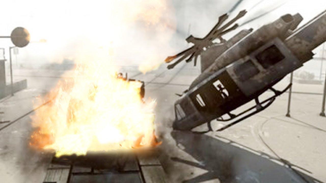 Battlefield 4 Elicottero : Battlefield helicopter crash heli gunner rampage