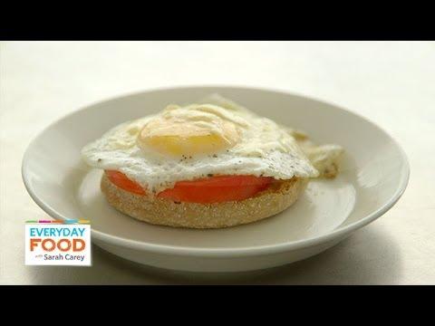 Open Faced Mediterranean Egg Sandwiches