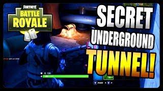 Fortnite Battle Royale: Secret Underground Tunnel! *LOOT INSIDE*