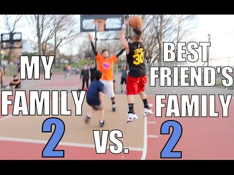 2 on 2 BASKETBALL GAME! MY FAMILY vs. BEST FRIEND'S FAMILY! LOSER DOES DARE!