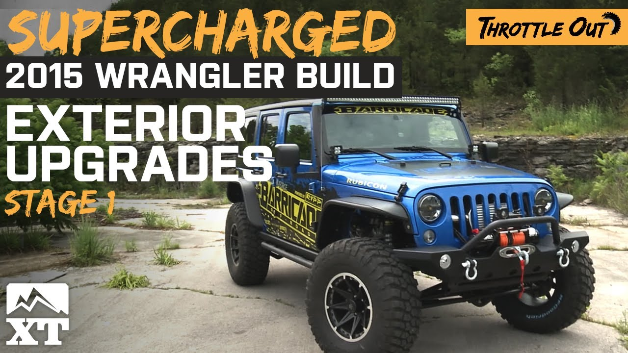 supercharged jeep wrangler (2007-2017 jk) gets armored up! - youtube