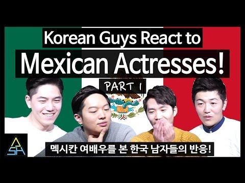 Korean Guys React to Mexican Actresses #1 [ASHanguk]