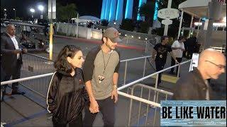 Mila kunis & ashton kutcher look adorable holding hands after u2 concert!!! - subscribe