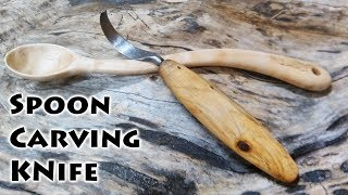 DIY Blacksmith Forging a Curved Knife for Spoon Carving