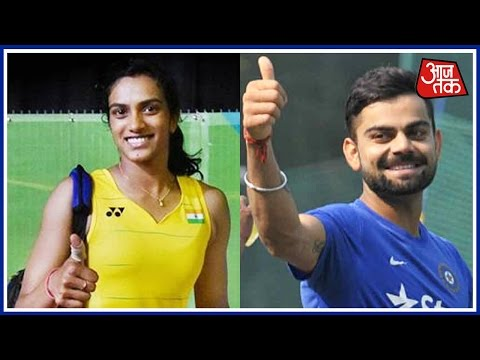 Cricketer Virat Kohli Congratulates PV Sindhu  Before Finals
