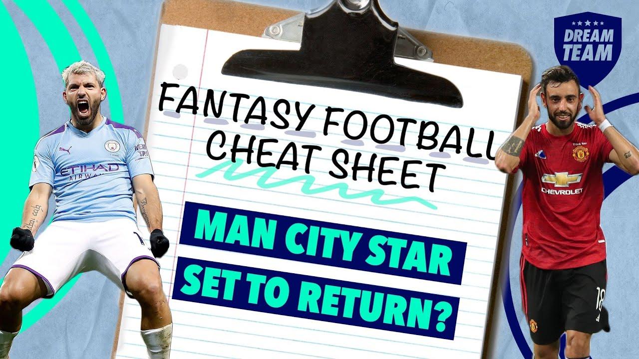 MAN CITY STAR SET TO RETURN?   Fantasy Football Cheat Sheet (Episode 3)