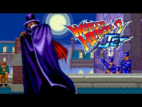 "World Heroes 2 Jet Jack ""Entry to the tournament"" Playthrough Neo-Geo CD"