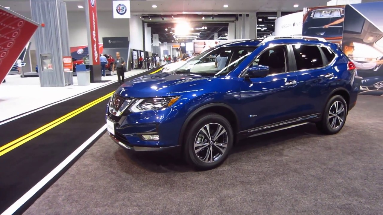 2018 nissan rogue sl.  nissan 2017 oc auto show  new 2018 nissan rogue sl awd hybrid exterior walk  around u0026 interior tour inside nissan rogue sl