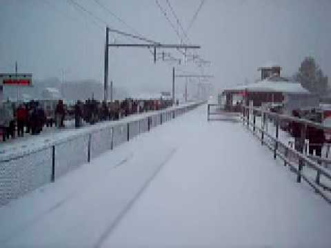 Thumbnail: MUST SEE!! Acela with tons and tons of horn flying through the snow