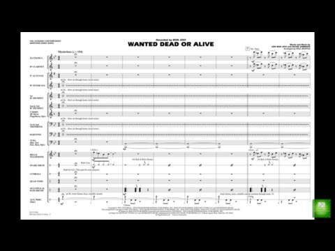 Wanted Dead or Alive arranged by Paul Murtha