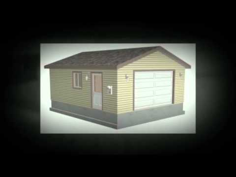 G507 20 x 24 x 8 garage plans youtube for 20 x 24 garage plans