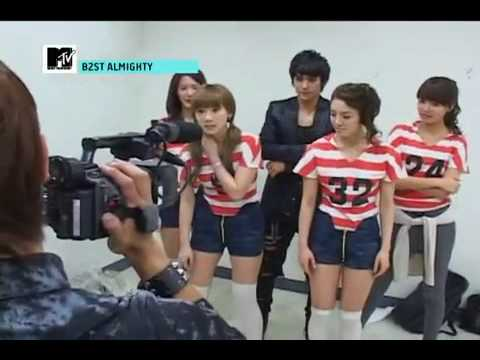 [100425 HQ] B2ST & SNSD Mystery Dance [Behind the Scenes]