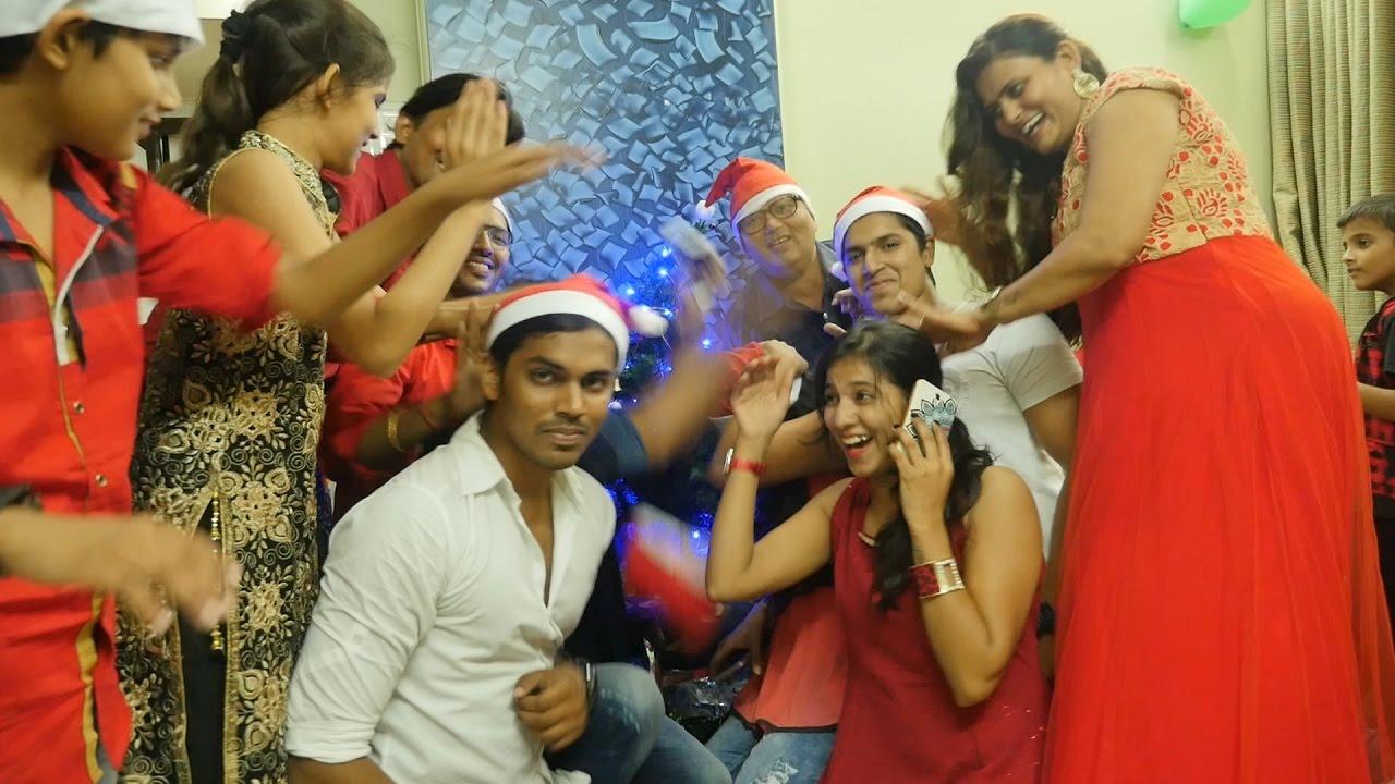 christmas funny family fightmerry xmasbrother sister fightsindian people celebratingjhagdaladai