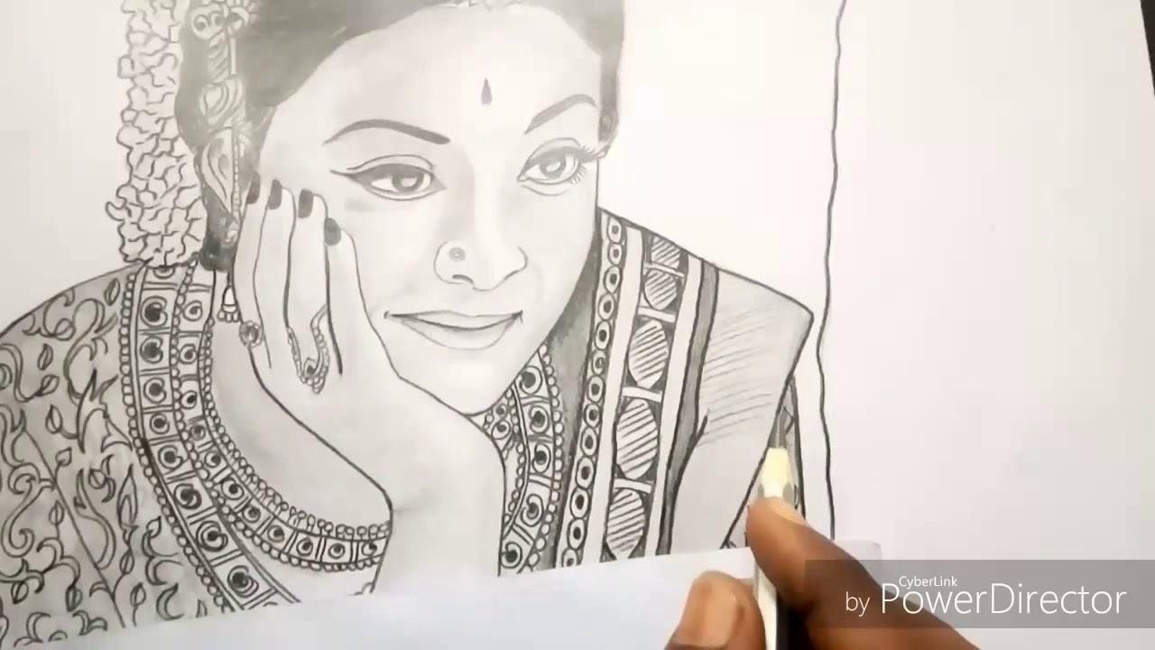 Mahanati keerthi suresh pencil sketch