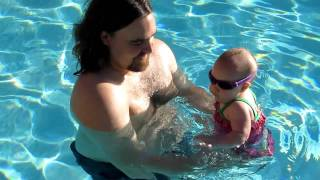 Tim and Sadie in the pool 5-12-2011 Thumbnail
