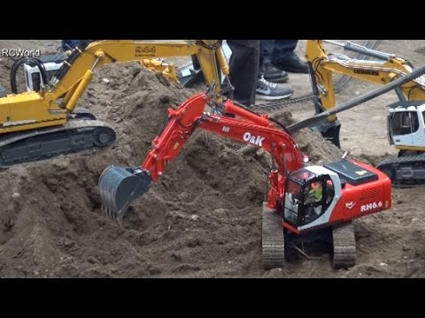 RC Construction Site Baustelle Tiefbau Ost♦Modell Hobby Spiel 2015 Leipzig Modellbaumesse
