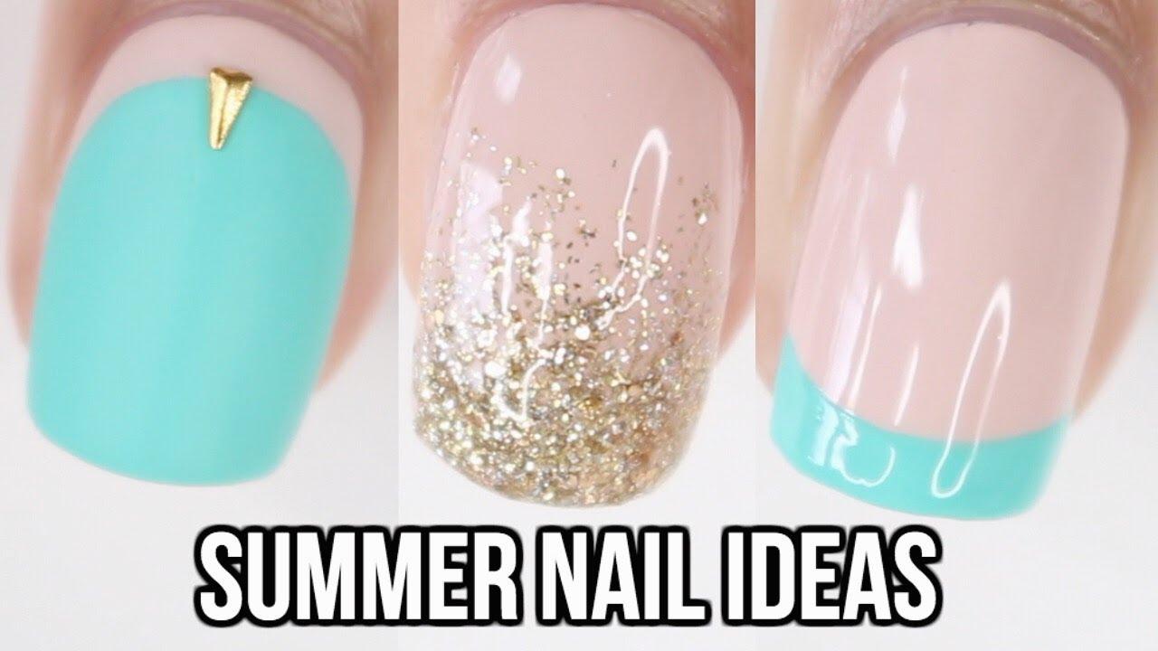 10 Easy Summer Nail Ideas Nail Art Compilation Youtube Diy Nail Designs Summer Nails Diy Nails
