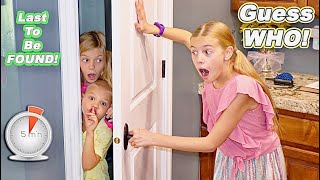 5 minute Guess WHO Last To Be Found Hide and Seek Closets Edition In Tannerites House!
