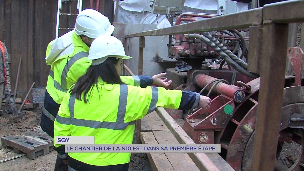 Yvelines | SQY : Le chantier de la N10 est dans sa première étape