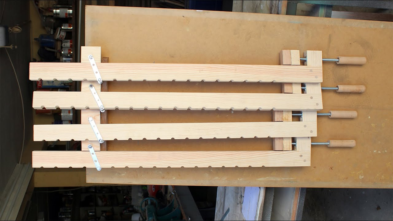diy wood bar.  Homemade Wood Bar Clamps YouTube