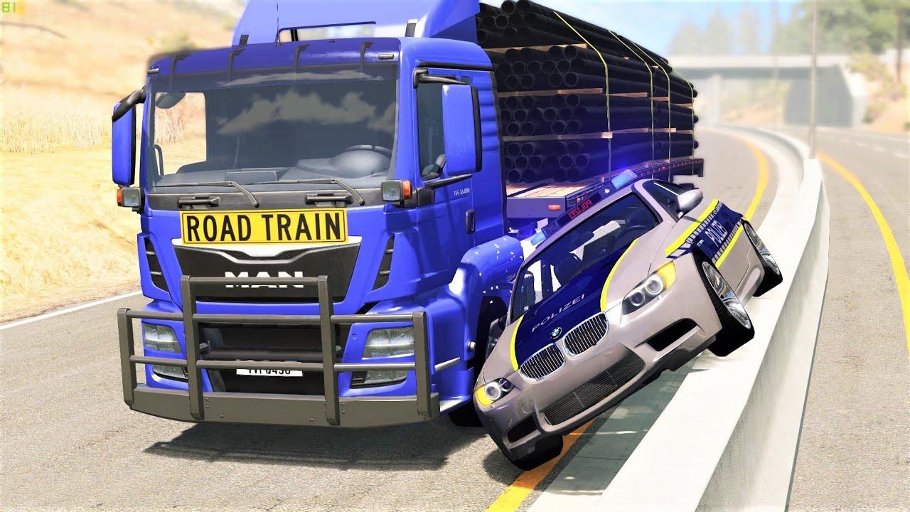 Bus and Truck Crashes #4 - BeamNG Drive | CRASHdriven