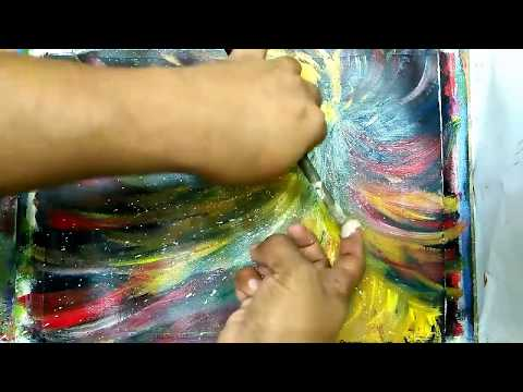 Art and Craft Ideas /Abstract/ Brush and Palette knife /Acrylic Abstract Painting Tutorial #16