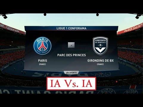 Paris - Bordeaux [FIFA 18] | Ligue 1 Conforama 2017-2018 (8ème Journée) | IA Vs. IA