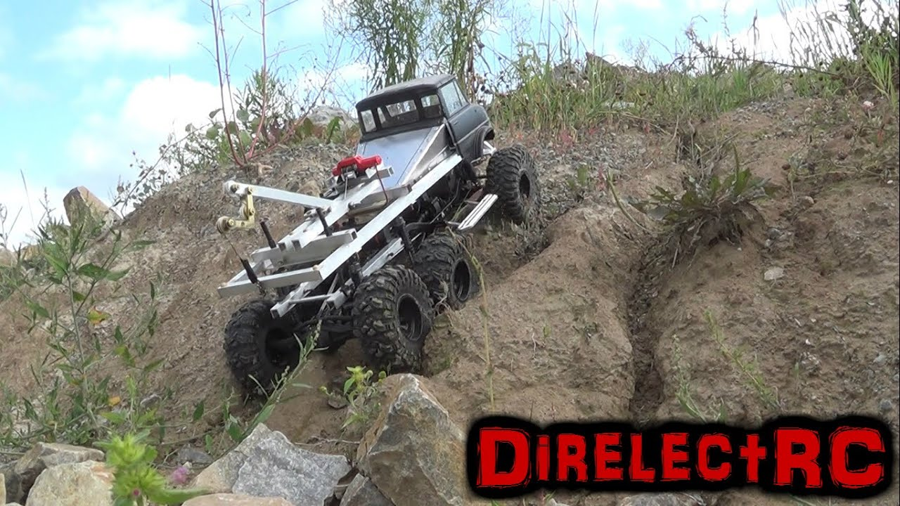 6x6 Rc Tow Truck Scx10 Jeep Rubicon Rc Rock Crawlers