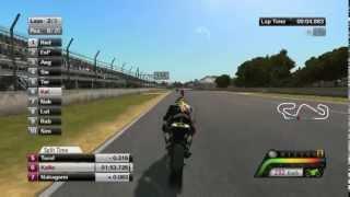 MotoGp13 Gameplay - Moto2™ with Mika Kalio at Catalunya, Spain (Grandprix)