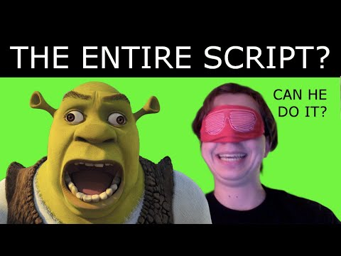 "LIVE: Watch Me Recite The ENTIRE ""SHREK"" SCRIPT From MEMORY!!!"