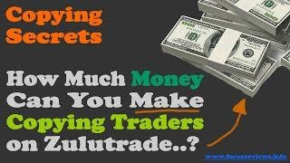How Much Money Can You Make Copying Traders on Zulutrade?