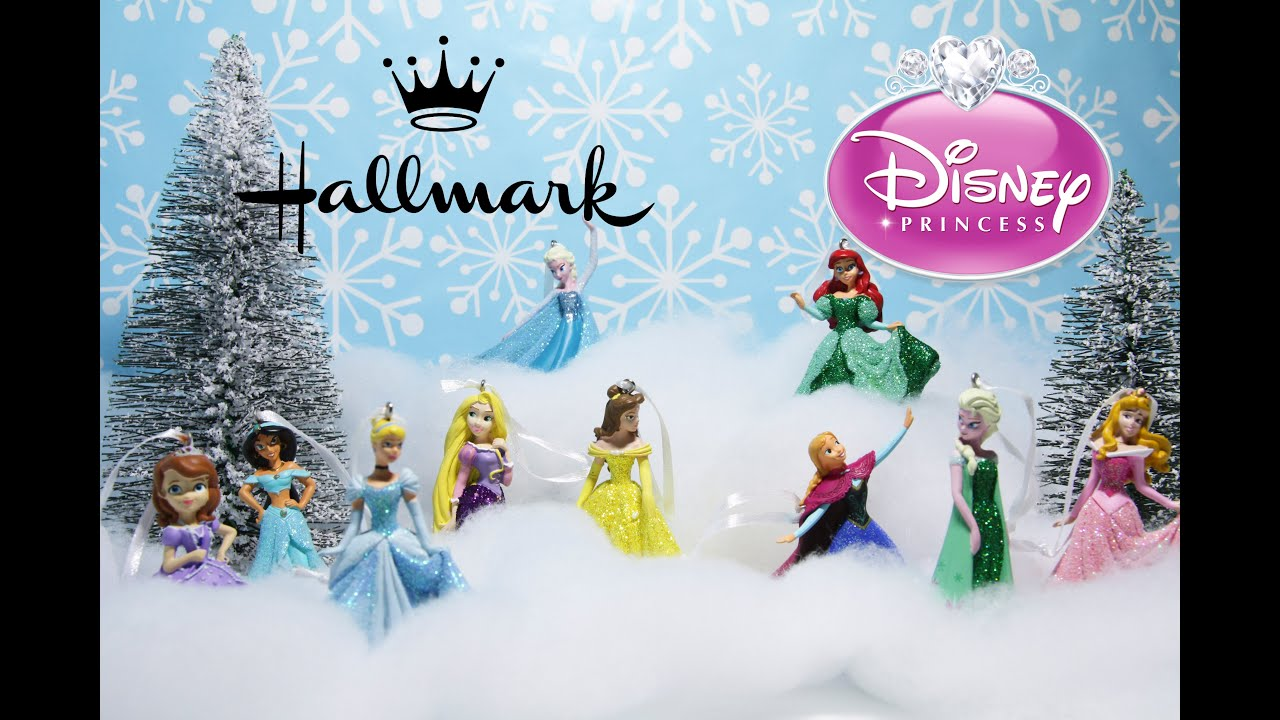 hallmark disney princess christmas tree ornament collection youtube