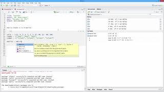 So Erstellen Sie eine Matrix mit Etiketten in R. [HD]