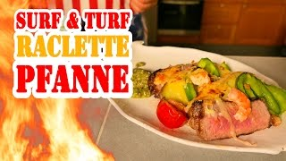 Surf & Turf Raclette Pfanne - BBQ Grill Rezept Video - Die Grillshow 197c