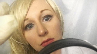 ASMR Dermatologist Exam Role Play | Latex Gloves with Magnifying Glass