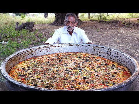 Thumbnail: Giant Pizza | Veg Pizza | Amazing Pizza Cooking by our grandpa for Orphan kids