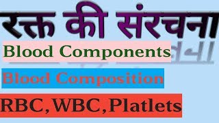 रक्त की संरचना व कार्य I blood structure and functions I blood  components I what is blood ?