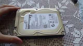 Seagate 3TB SATA 3.0 6GB/s 7200rpm hard drive unboxing
