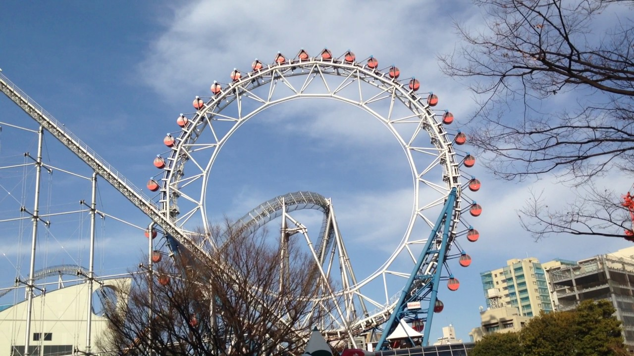 Kincir ria Big-O di Tokyo Dome City, Jepang ini di dalamnya terdapat karaoke. Foto: Youtube