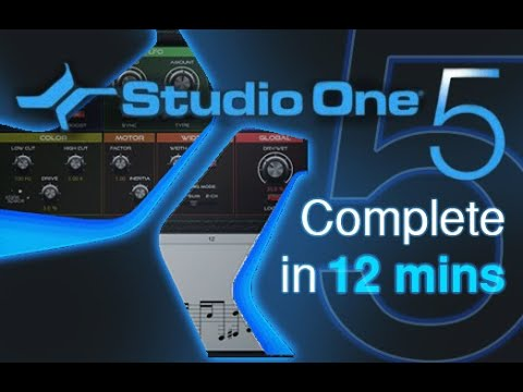 Studio One 5 – Tutorial for Beginners in 12 MINUTES! [ COMPLETE ]