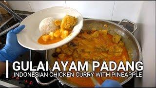 Gulai Ayam Padang - Kalio Ayam - Indonesian Chicken Curry with Pineapple II CLK