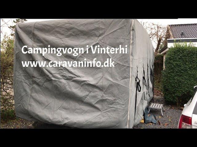 Campingvogn i vinterhi