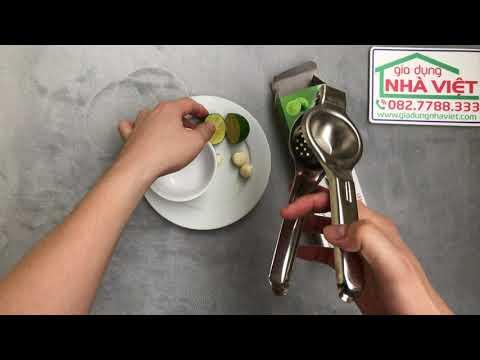 Dùng thử kẹp vắt chanh inox nhanh tiện dụng khi phải vắt nhiều