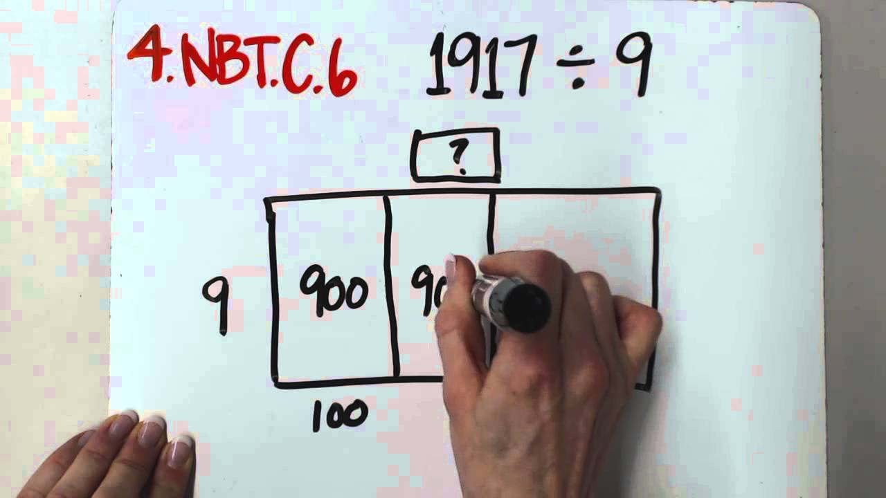 4.NBT.B.6 Whole Number Division with Open Area Model - YouTube