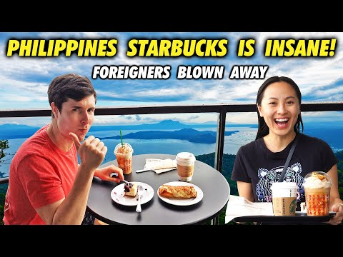 Philippines STARBUCKS is INSANE! Foreigners BLOWN AWAY!