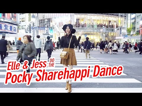 Elle & Jess Do The Pocky Sharehappi Dance in Japan